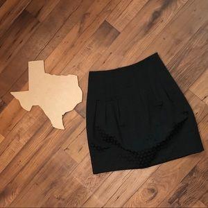 Anthro Elevenses Black dot skirt Sz 6